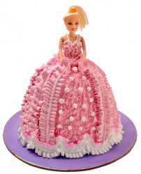 Pink Doll Chocolate Cake