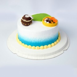 Makhan and Matka Pineapple Cake (1Kg)