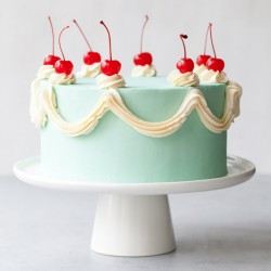 White Forest Cream Cake [1kg]