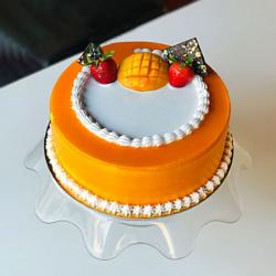 Tempting Mango Cream Cake